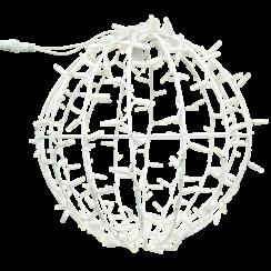 Sfeervolle LED 3D Kerstbal (wit)