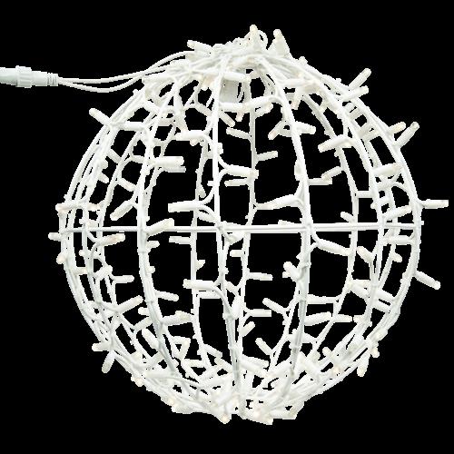 Tronix Sfeervolle LED 3D Kerstbal (wit)