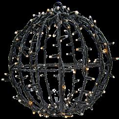Sfeervolle LED 3D Kerstbal (zwart)