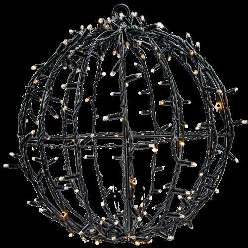 Tronix Sfeervolle LED 3D Kerstbal (zwart)