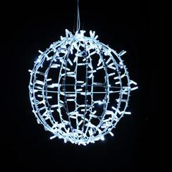3D Ball Motif | 30cm | White + White Twinkle LED