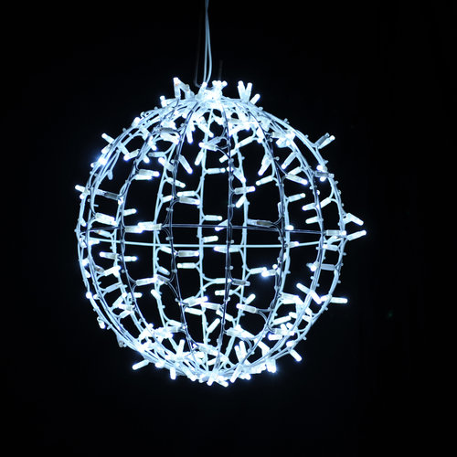 Tronix 3D Ball Motif | 30cm | White + White Twinkle LED