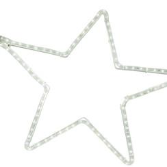 Motifs | 5 Point Star | 60x57cm Aluminium | White LED