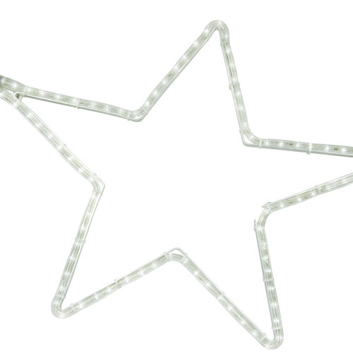 Tronix Motifs | 5 Point Star | 60x57cm Aluminium | White LED