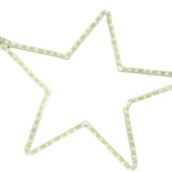 Motifs | 5 Point Star | 60x57cm Aluminium | Warm White LED