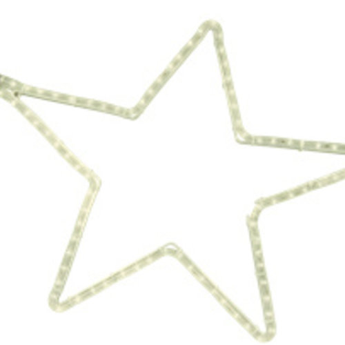 Tronix Motifs | 5 Point Star | 60x57cm Aluminium | Warm White LED