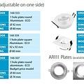 Tronix Armatuur rond aluminium kantelbaar IP20