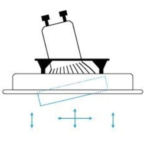 Tronix Armatuur vierkant aluminium kantelbaar IP20