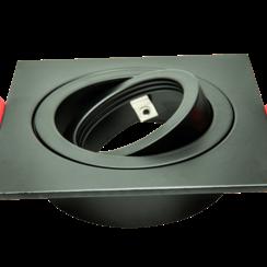 Armatuur vierkant zwart kantelbaar IP20