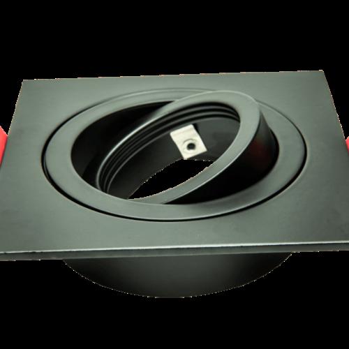 Tronix Armatuur vierkant zwart kantelbaar IP20