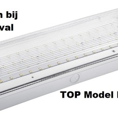 Led noodverlichting 420 lumen opbouw IP65 met testknop