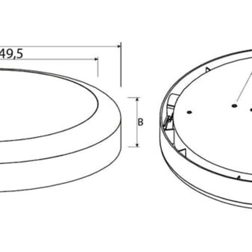 Tronix Ceiling Light | Ø300mm | 15W | IP65 | TRI-White