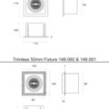Tronix Trimless Inbouwarmatuur | 50mm | Zwart | GU10 & MR16 Fitting Inclusief