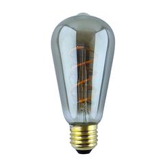 LED FILAMENT E27 6.5W 2300K EDISON L DIMBAAR SMOKE