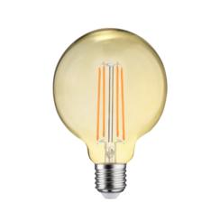 LED FILAMENT E27 6.5W 2700K GLOBE-L DIMBAAR AMBER GLAS
