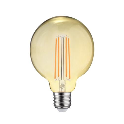 LVS led lighting LED FILAMENT E27 6.5W 2700K GLOBE-L DIMBAAR AMBER GLAS