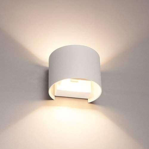 LVS led lighting WANDLAMP THEBE ROND WIT 6W DIMBAAR