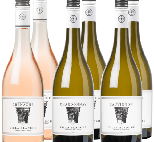 Calmel & Joseph ProefWijn pakket Villa Blanche wit - rosé