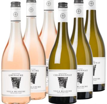 Calmel & Joseph ProefWijn pakket Villa Blanche wit - rosé - 6 flessen