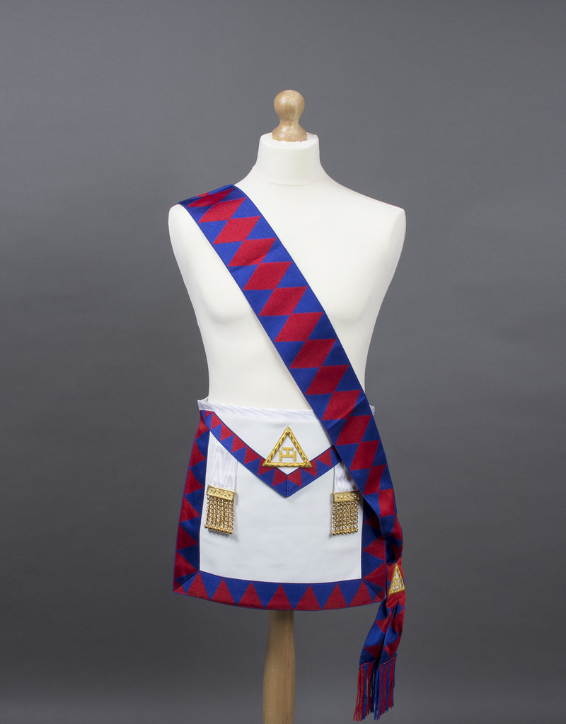 Royal Arch Companions Apron And Sash | Lambskin