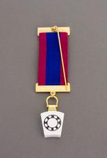 Mark Provincial Breast Jewel | Gold Sliver & Hand Enameled