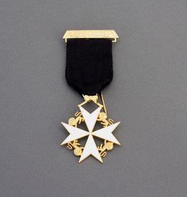 Knights of Malta Cross Breast Jewel | Gold & Hand Enameled