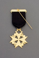 Knights of Malta Cross Breast Jewel | Gold & Hand Enameled