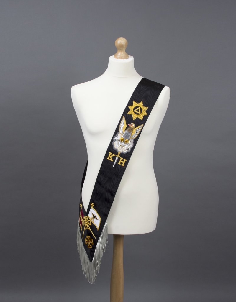 Rose Croix 30th Degree Sash | Hand Embroidered