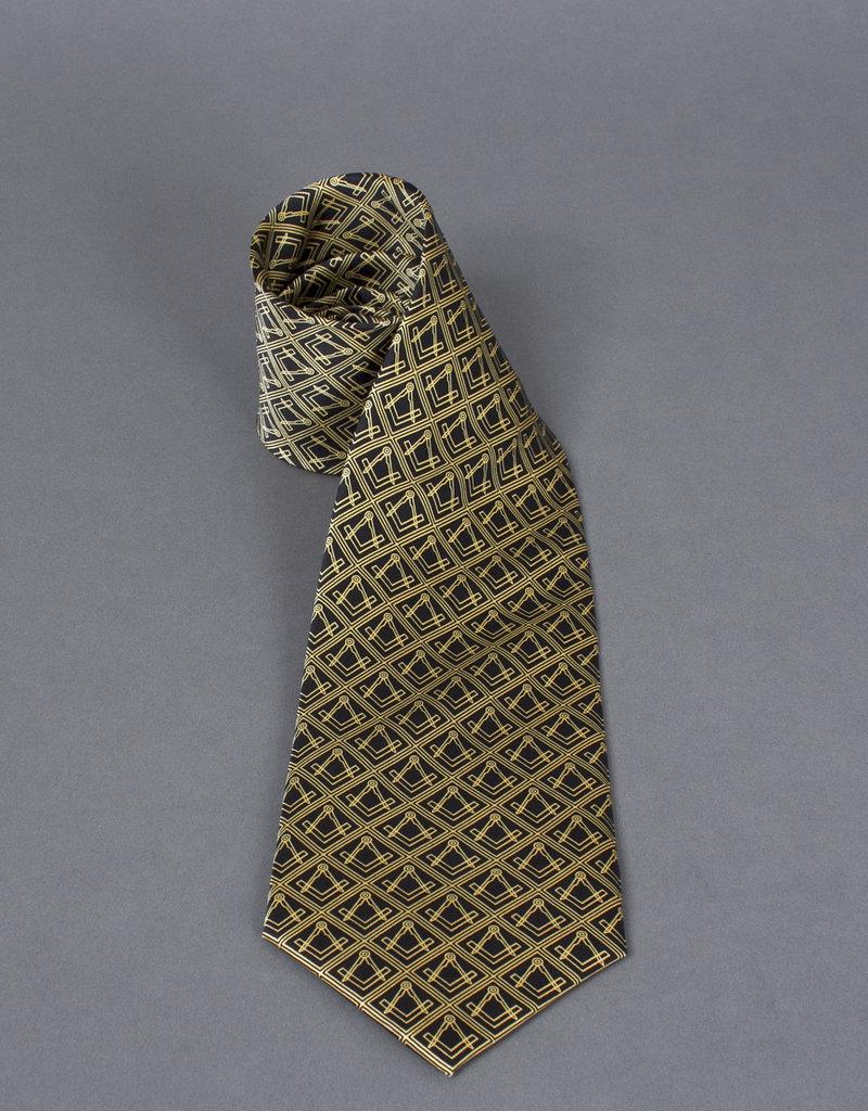 Finest Woven Silk Square & Compass Tie