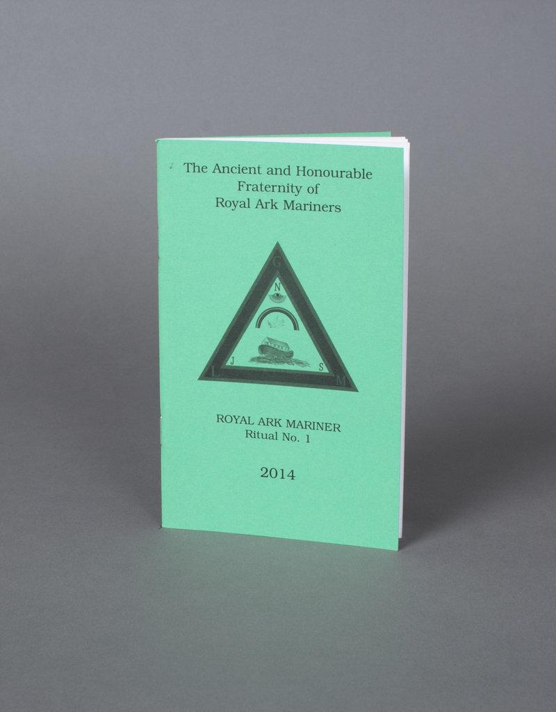 Official Royal Ark Mariners Degree No 1 Ritual | Book