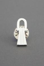 Masonic Lewis Block Lapel Pin Badge | Silver