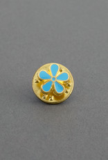 Masonic Forget Me Not Flower Lapel Pin Badge | Gold