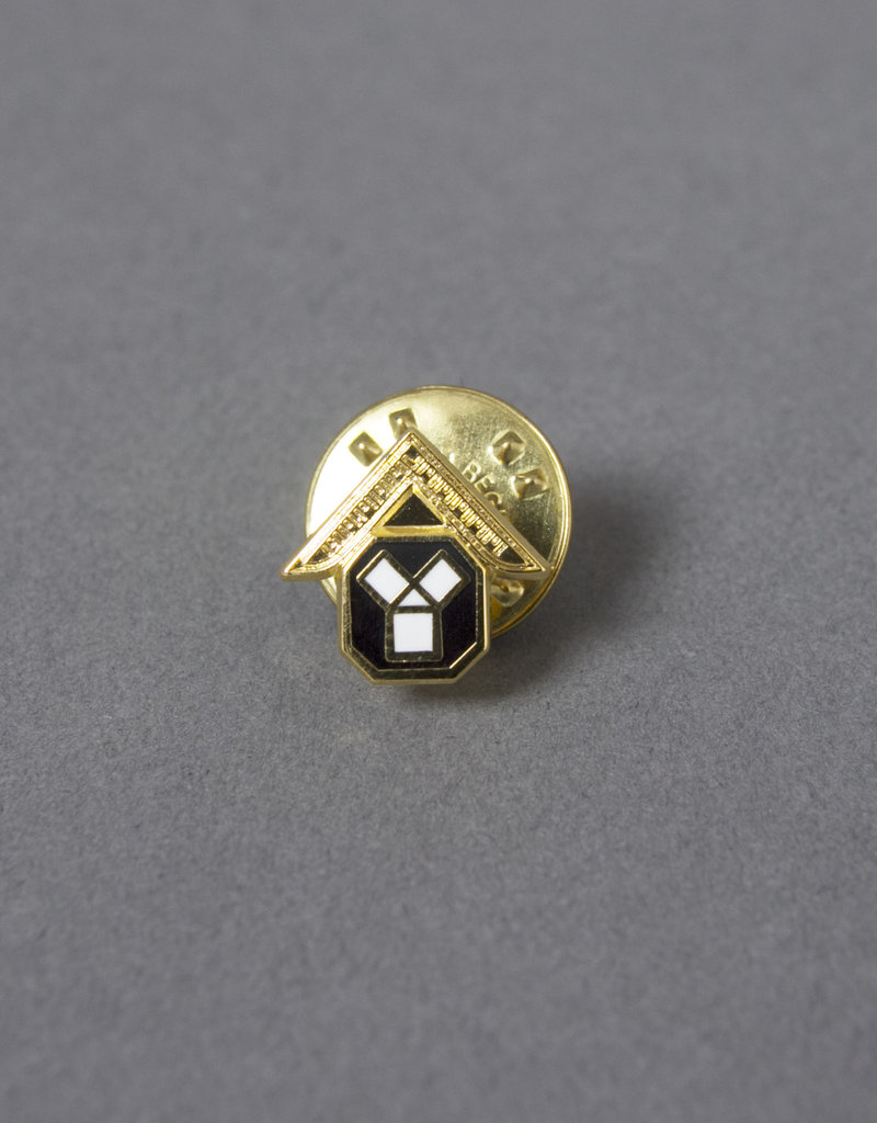 Craft Past Masters Lapel Pin Badge | Gold & Hand Enameled