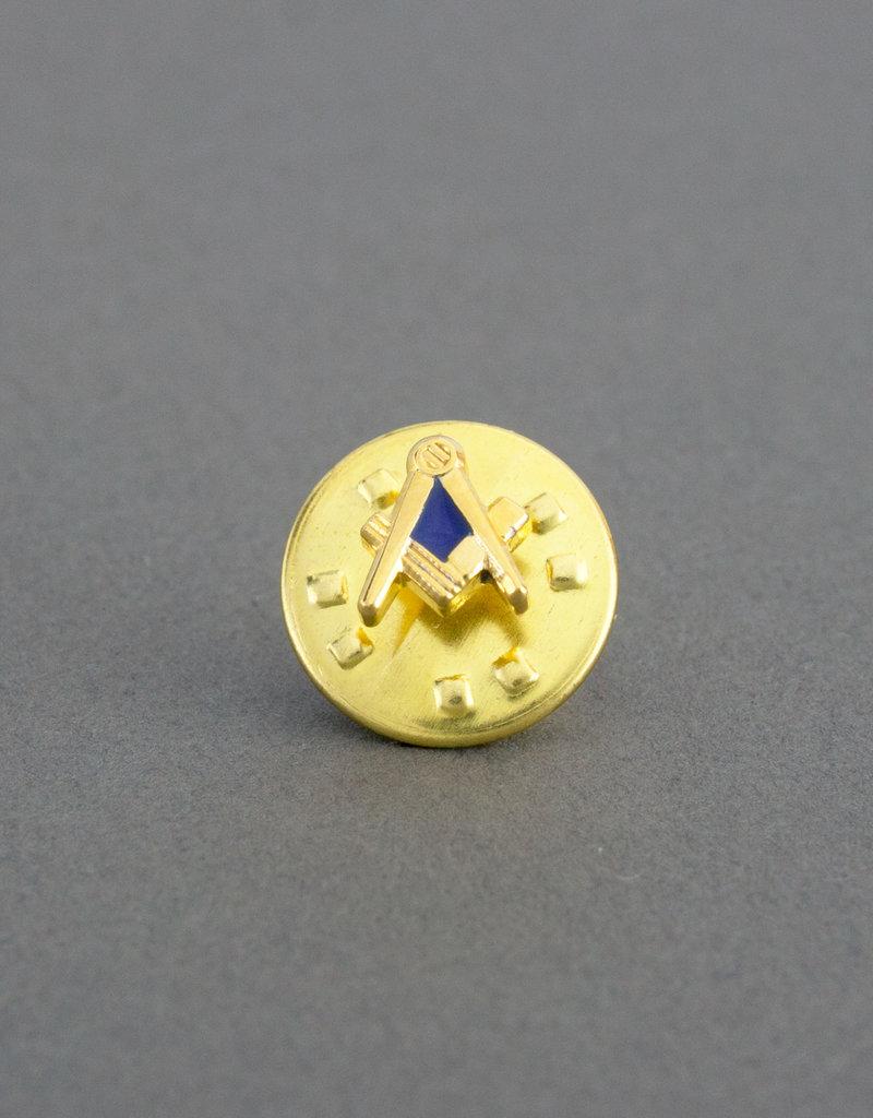 Masonic Square & Compass Lapel Pin Badge | Gold