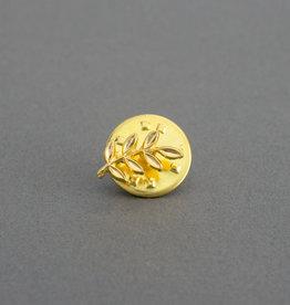 Masonic Acacia Leaf Pin Badge | Gold