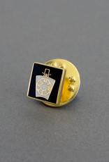 Mark Keystone Lapel Pin Badge | Gold & Hand Enameled