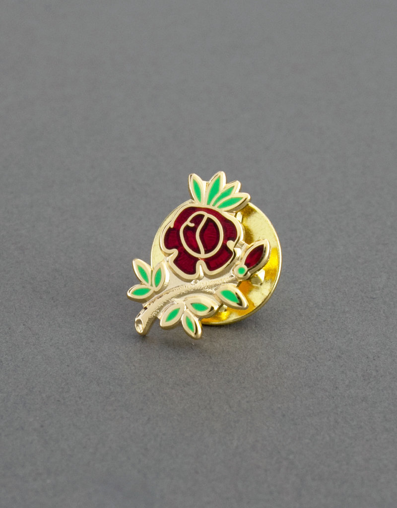 Rose Croix Lapel Badge | Gold & Hand Enameled
