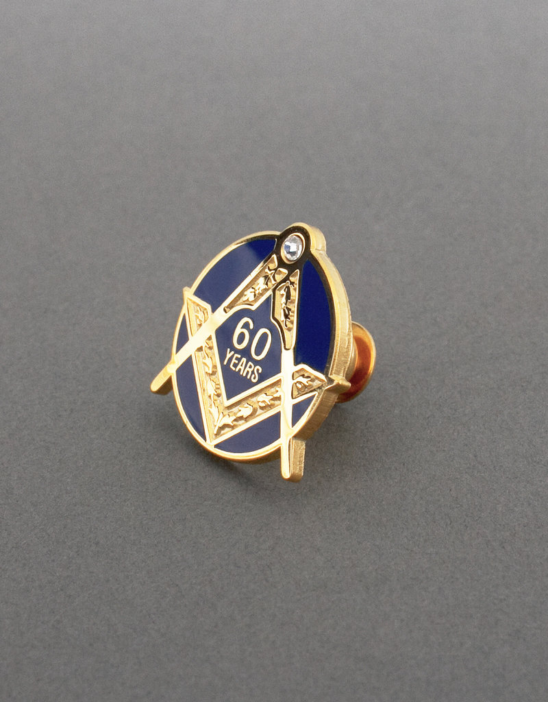 Craft Sixty Years Service Lapel Pin Badge | Hand Enameled