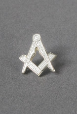 Square and Compass Lapel Pin Badge | Hallmarked Silver Gilt