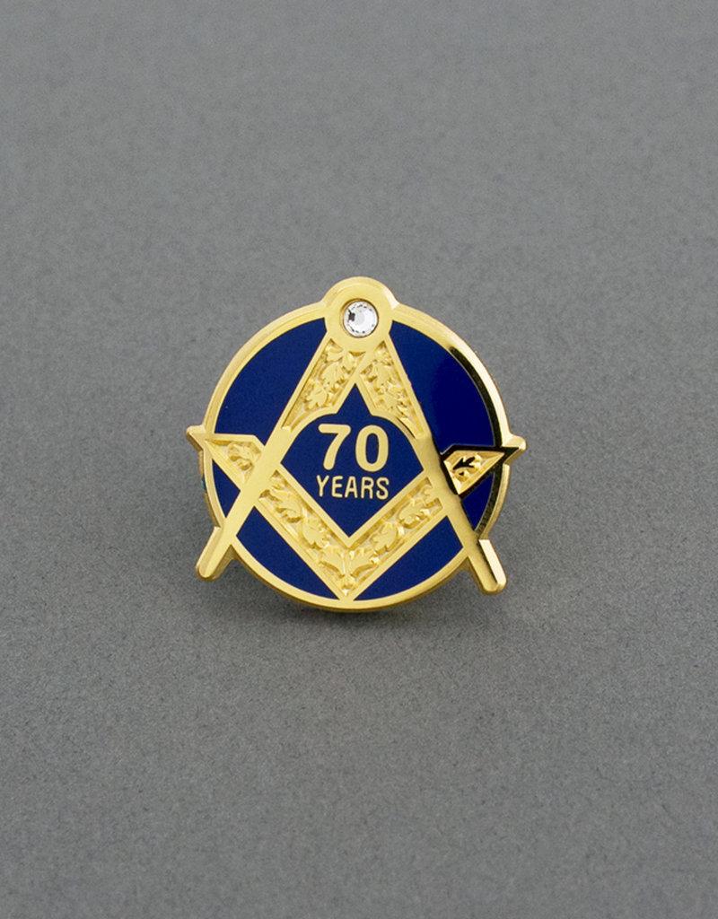 Craft Seventy Years Service Lapel Pin | Hand Enameled