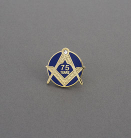 Craft Seventy Five Years Service Lapel Pin | Hand Enameled