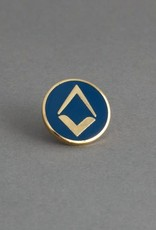 New Design Square and Compass Lapel Pin | Hand Enameled