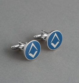 New Design Square and Compass Cufflinks | Hand Enameled