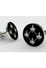 Craft Quatuor Coronati Correspondence Circle Silver Cufflinks
