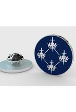 Craft Quatuor Coronati Correspondence Circle Silver Lapel Pin