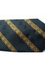 Athelstan Finest Woven Silk Tie | Gold on Black