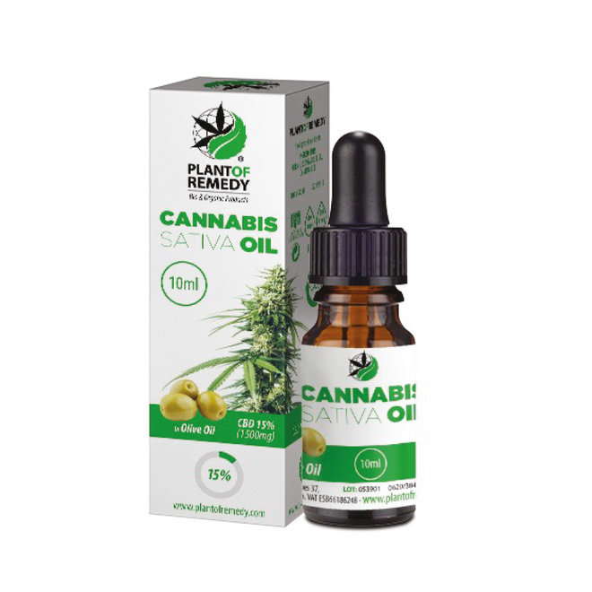 CBD Olijfolie 10 ml 1.500 mg (15%)