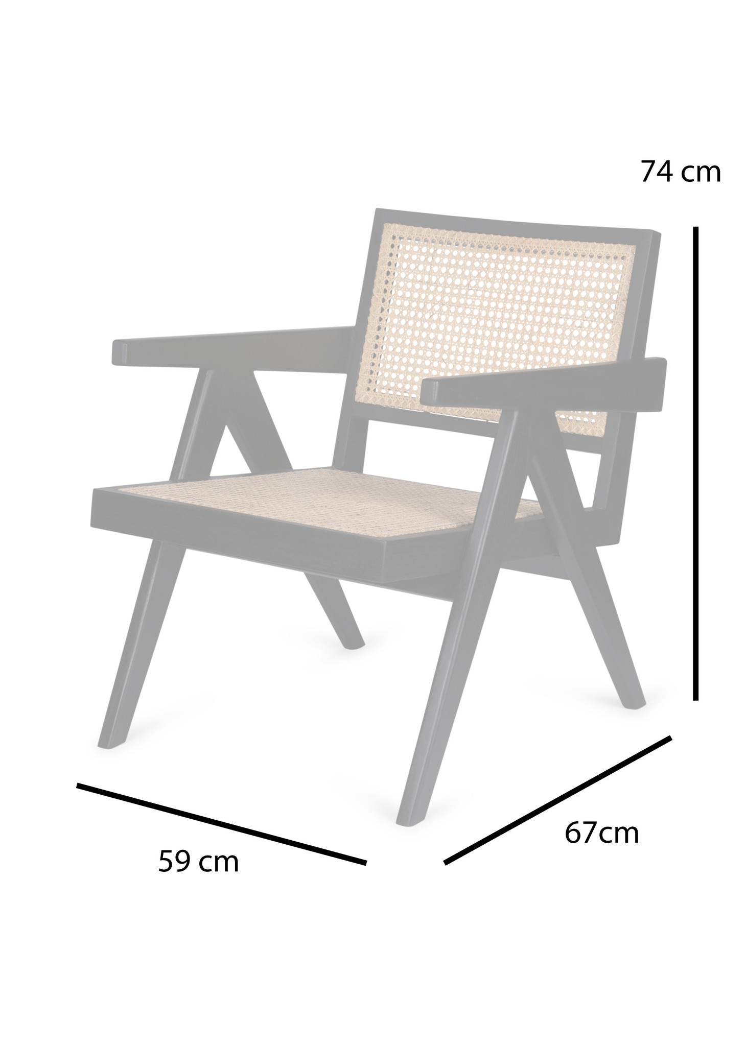 Easy Lounge Chair - Verdunkeltes Teakholz Hochglanz-5