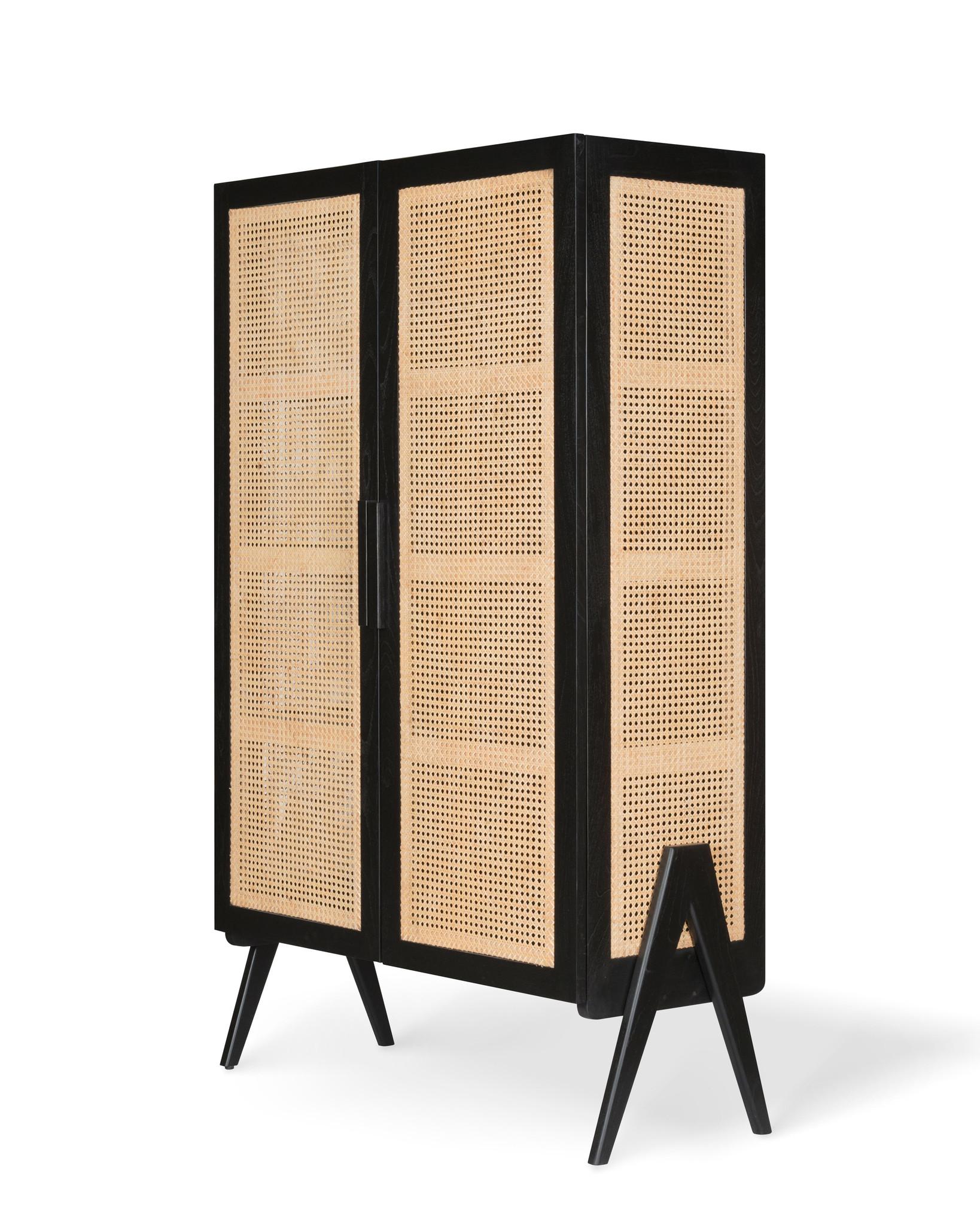 Storage Cabinet - Charcoal Black-2