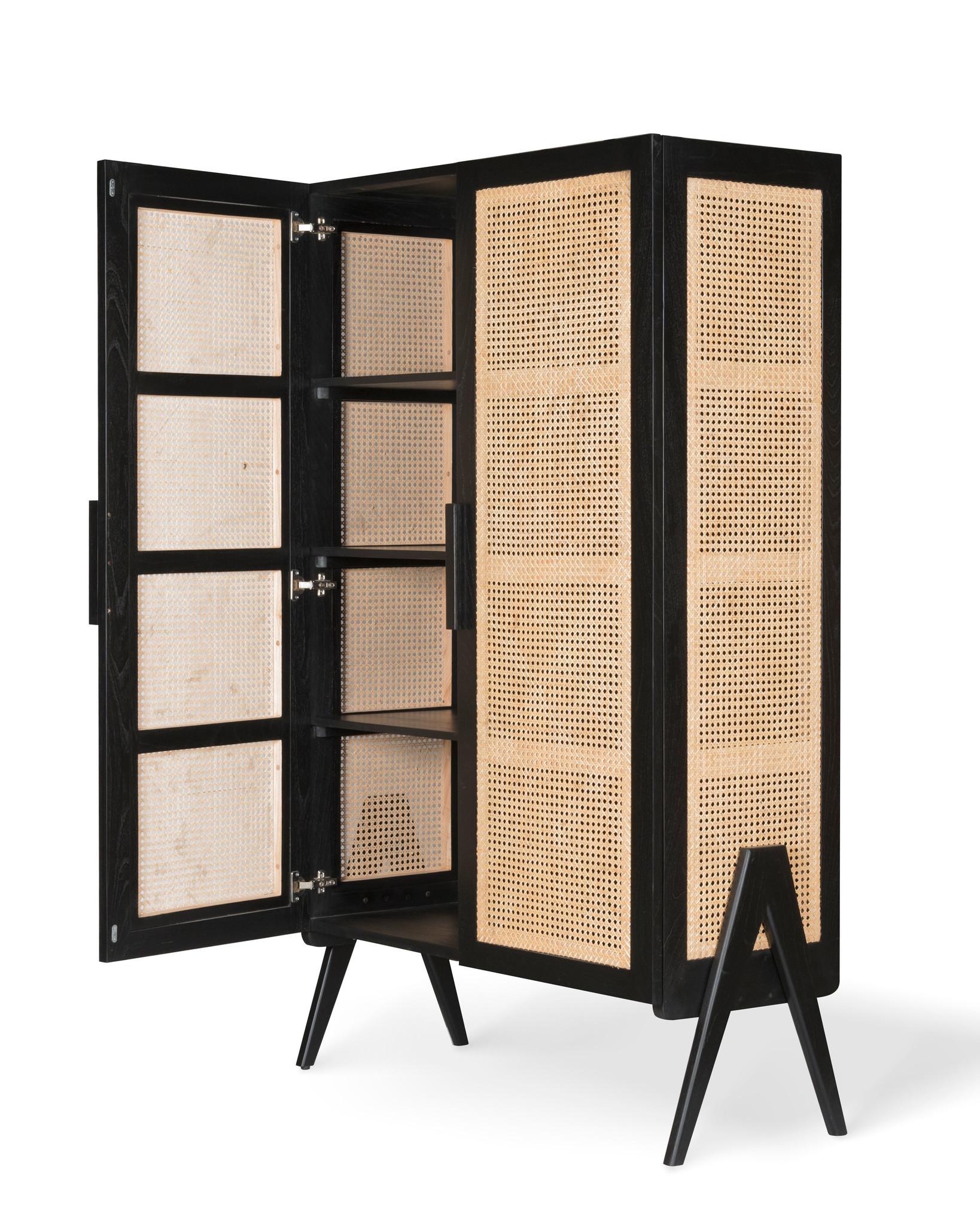 Storage Cabinet - Charcoal Black-3